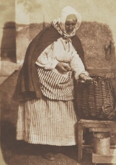 Mrs Barbara Flucker (née Johnstone), the oysterwoman, by David Octavius Hill, and  Robert Adamson - NPG P6(197)