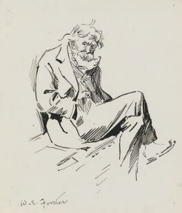 William Edward Forster, by Harry Furniss - NPG 3358