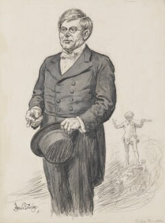 Sir George James Frampton, by Sir (John) Bernard Partridge, before 1927 - NPG 3669 - Reproduced with permission of Punch Ltd