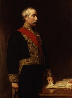 Sir (Henry) Bartle Edward Frere, 1st Bt, by Sir George Reid - NPG 2669