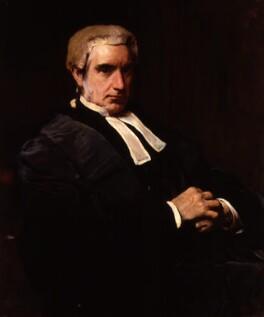 Sir Edward Fry, by Frank Holl - NPG 2466