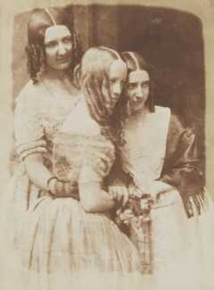 Jane Webster (née Binny); Justine Gallie (née Monro); Mrs Marrable (née Binny), by David Octavius Hill, and  Robert Adamson - NPG P6(117)