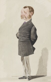 Alan Plantagenet Stewart, 10th Earl of Galloway, by Melchiorre Delfico, published in Vanity Fair 1 February 1873 - NPG 3274 - © National Portrait Gallery, London