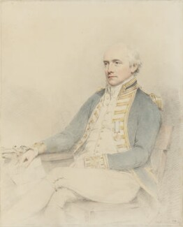 James Gambier, 1st Baron Gambier, by Joseph Slater - NPG 1982