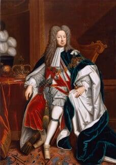 King George I, studio of Sir Godfrey Kneller, Bt, 1714-1725, based on a work of 1714 - NPG 544 - © National Portrait Gallery, London