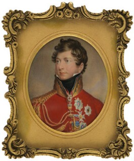 King George IV, by Johann Paul Georg Fischer, after  Sir Thomas Lawrence, before 1875, based on a work of 1815 - NPG 6295 - © National Portrait Gallery, London
