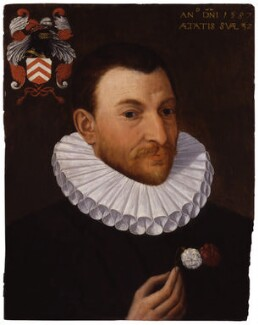 Unknown man of the Van Nierop family, attributed to Isaac Claesz van Swanenburg - NPG 1306