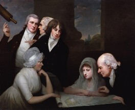 Adam Walker and his family, by George Romney - NPG 1106