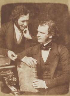 Mr Moir; John Gibson, by David Octavius Hill, and  Robert Adamson, 1843-1848 - NPG  - © National Portrait Gallery, London
