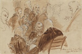 Group including 1st Baron Gifford, Lushington, Baron Lyndhurst, di Spineto and 1st Baron Truro, by Sir George Hayter - NPG 1695(i)