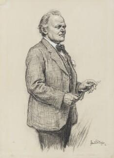Sir Alfred Gilbert, by Bernard Partridge - NPG 4076