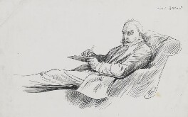 Sir William Schwenck Gilbert, by Harry Furniss - NPG 3574
