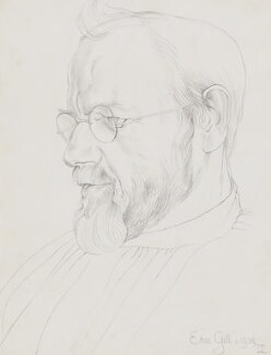 Eric Gill, by Desmond Chute - NPG 3957