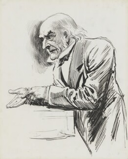 William Ewart Gladstone, by Harry Furniss - NPG 3363
