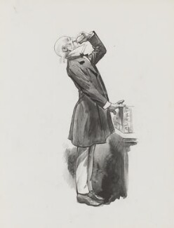 William Ewart Gladstone, by Harry Furniss, 1880s-1900s - NPG  - © National Portrait Gallery, London