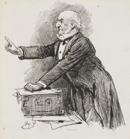 William Ewart Gladstone, by Harry Furniss - NPG 3378