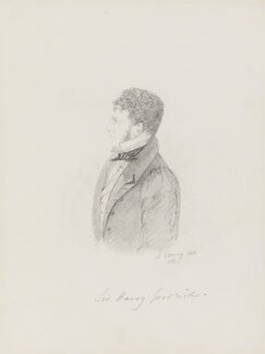 Sir Henry James Goodricke, 7th Bt, by Alfred, Count D'Orsay - NPG 4026(29)