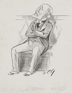 Sir John Eldon Gorst, by Sir Francis Carruthers Gould ('F.C.G.') - NPG 2839