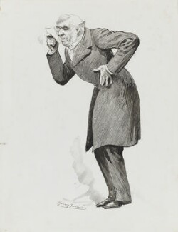 George Joachim Goschen, 1st Viscount Goschen, by Harry Furniss - NPG 3577