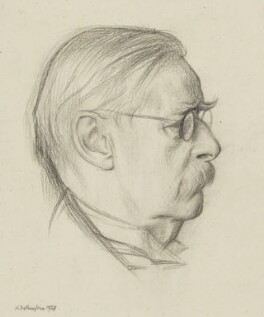Sir Edmund William Gosse, by William Rothenstein - NPG 2359