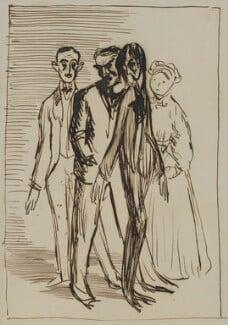 Sir Hugh Percy Lane; John Millington Synge; W.B. Yeats; Augusta, Lady Gregory, by Sir William Orpen - NPG 4676