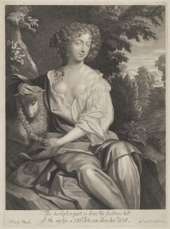 Nell Gwyn, by Gerard Valck, after  Sir Peter Lely - NPG 3811