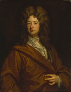 Charles Montagu, 1st Earl of Halifax, by Sir Godfrey Kneller, Bt - NPG 3211