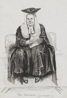 Hardinge Stanley Giffard, 1st Earl of Halsbury, by Harry Furniss, 1880s-1900s - NPG 3394 - © National Portrait Gallery, London