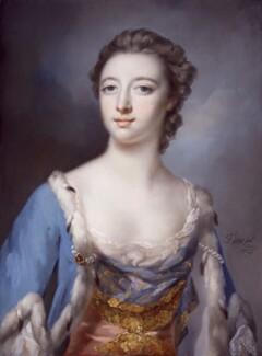 Elizabeth (née Gunning), Baroness Hamilton of Hameldon, by Francis Cotes - NPG 4890