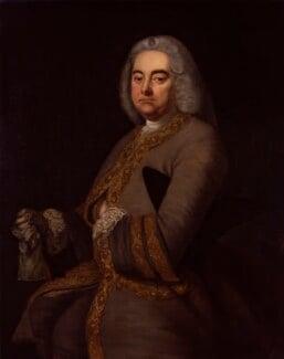 George Frideric Handel, after Thomas Hudson, 1756-1800, based on a work of 1756 - NPG 8 - © National Portrait Gallery, London