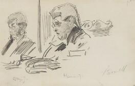 Sir John Charles Frederick Sigismund Day; James Hannen, Baron Hannen, by Sydney Prior Hall - NPG 2296