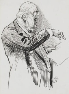 Sir William Vernon Harcourt, by Harry Furniss - NPG 3390