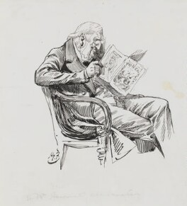 Sir William Vernon Harcourt, by Harry Furniss, 1880s-1900s - NPG 3391 - © National Portrait Gallery, London