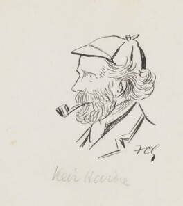 Keir Hardie, by Sir Francis Carruthers Gould ('F.C.G.'), 1890s? - NPG 2846 - © National Portrait Gallery, London