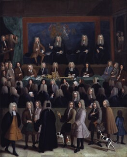 The Court of Chancery during the reign of George I, by Benjamin Ferrers - NPG 798