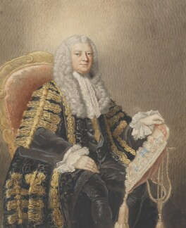 Philip Yorke, 1st Earl of Hardwicke, by William Nelson Gardiner, after  William Hoare - NPG 466