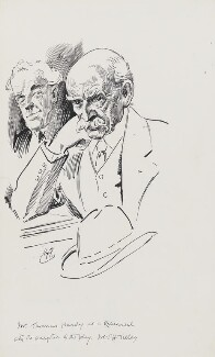 Thomas Hardy with Thomas Henry Tilley, by Harry Furniss, 1880s-1900s - NPG 3583 - © National Portrait Gallery, London