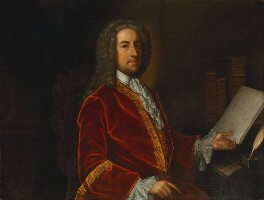 William Stanhope, 1st Earl of Harrington, by James Worsdale - NPG 4376