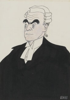 Sir Patrick Hastings, by Nicolas Clerihew Bentley, published 1948 - NPG  - © reserved; collection National Portrait Gallery, London