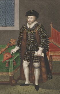 Sir Christopher Hatton, attributed to Silvester (Sylvester) Harding, after  Nicholas Hilliard - NPG 2413