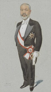 Viscount Tadasu Hayashi, by Sir Leslie Ward, published in Vanity Fair 24 April 1902 - NPG 4707(13) - © National Portrait Gallery, London