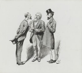 Timothy Michael Healy; Justin McCarthy; Thomas Sexton, by Harry Furniss - NPG 3620