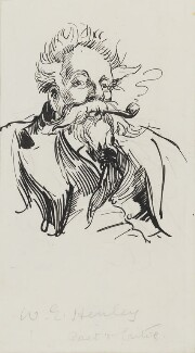 William Ernest Henley, by Harry Furniss, 1880s-1900s - NPG 3586 - © National Portrait Gallery, London