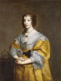 Henrietta Maria, after Sir Anthony van Dyck, 17th century, based on a work of circa 1632-1635 - NPG 227 - © National Portrait Gallery, London