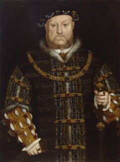 King Henry VIII, by Unknown artist, perhaps early 17th century, based on a work of circa 1542 - NPG 496 - © National Portrait Gallery, London