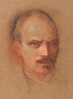 Maurice Henry Hewlett, by William Rothenstein - NPG 2213