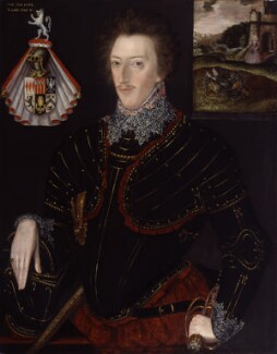 Sir Edward Hoby, by Unknown Anglo-Netherlandish artist, 1583 - NPG 1974 - © National Portrait Gallery, London