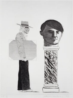 David Hockney ('The Student - Homage to Picasso'), by David Hockney, 1973 - NPG  - © David Hockney 1973