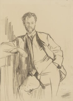 Charles Holden, by Francis Dodd - NPG 4427