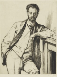 Charles Holden, by Francis Dodd - NPG 4173